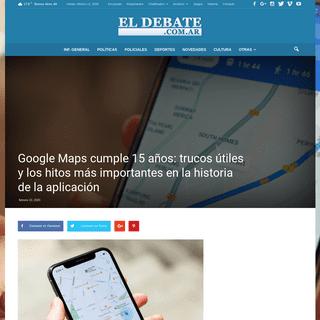 Google Maps cumple 15 años- trucos útiles y los hitos más importantes en la historia de la aplicación - EL DEBATE