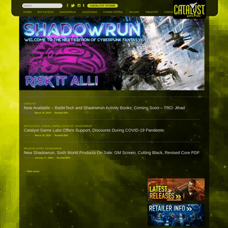 Catalyst Game Labs - Publisher of exciting adventure games including Shadowrun and BattleTech