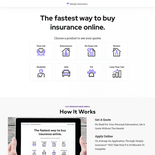 Simply Insurance™ -- The Fastest Way Buy Insurance Online