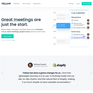 Fellow.app - Great Meetings Start Here- Collaborative Agendas, Action Items and more...