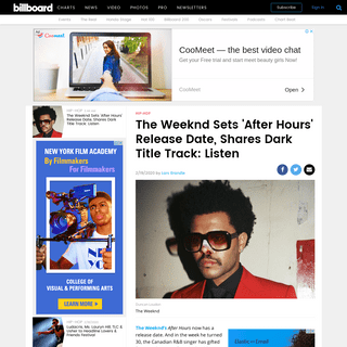 ArchiveBay.com - www.billboard.com/articles/columns/hip-hop/8551359/the-weeknd-after-hours-release-date-title-track-release - The Weeknd Shares 'After Hours' Title Track- Stream It Now - Billboard