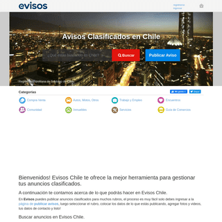 Anuncios Clasificados en Chile. Avisos gratis Evisos.