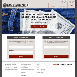 Texas' Official Unclaimed Property Site - Texas Comptroller - Texas.gov