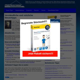 ArchiveBay.com - steuer-schutzbrief.de - Steuern sparen- Ratgeber, Tipps, Musterschreiben[Steuer-Schutzbrief]