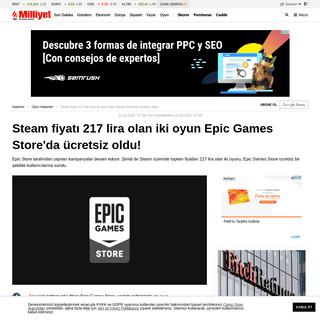 Steam fiyatı 217 lira olan iki oyun Epic Games Store'da ücretsiz oldu!