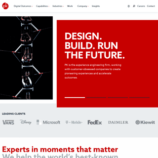 PK- the Experience Engineering Firm - PK Design. Build. Run the Future