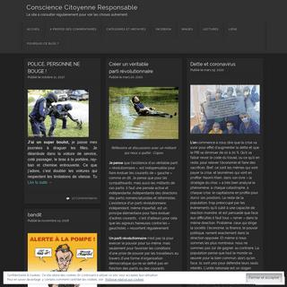 Conscience Citoyenne Responsable - Le site à consulter réguliérement pour voir les choses autrement