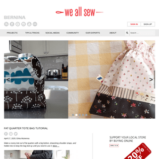 ArchiveBay.com - weallsew.com - WeAllSew - BERNINA USA's blog, WeAllSew, offers fun project ideas, patterns, video tutorials and sewing tips for sewers and cr