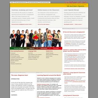 LivingSpanish.com - THE Portal for Learning Spanish and Spanish Language Resources - LivingSpanish.com