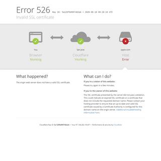 zppie.com - 526- Invalid SSL certificate