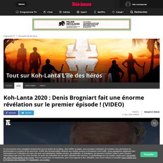 Koh-Lanta 2020 - Denis Brogniart fait une énorme révélation sur le premier épisode ! (VIDEO)