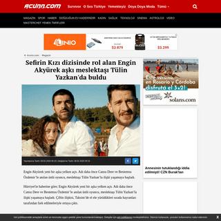 Sefirin Kızı dizisinde rol alan Engin Akyürek aşkı meslektaşı Tülin Yazkan'da buldu