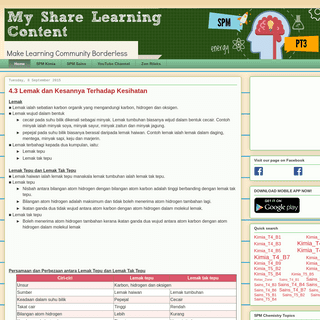 My Share Learning Content