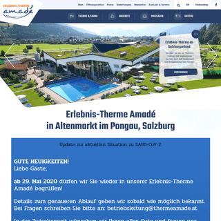 Vielfältige Bade- & Saunalandschaft in der Erlebnis-Therme Amadé, Altenmarkt