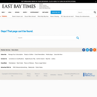 Page not found – East Bay Times