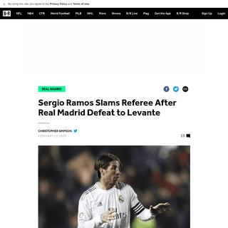 ArchiveBay.com - bleacherreport.com/articles/2877570-sergio-ramos-slams-referee-after-real-madrid-defeat-to-levante - Sergio Ramos Slams Referee After Real Madrid Defeat to Levante - Bleacher Report - Latest News, Videos and Highlights