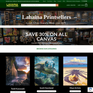 Lahaina Printsellers - Antique Maps - Maui Art - Hawaii Photography