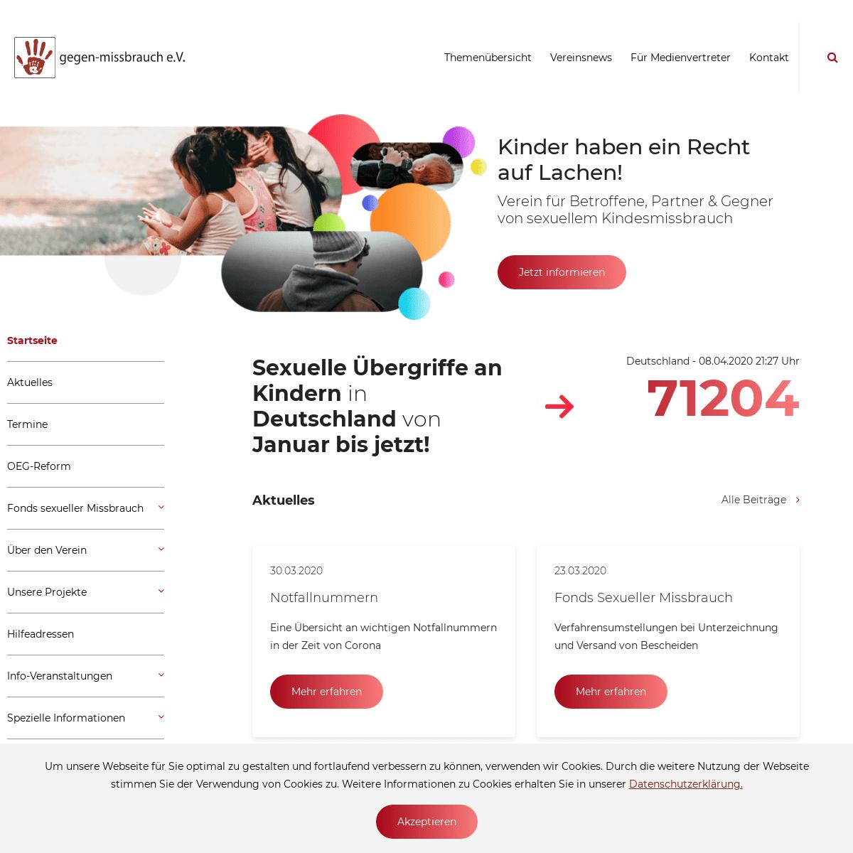 ArchiveBay.com - gegen-missbrauch.de - gegen missbrauch Verein für Opfer von sexuellem Missbrauch