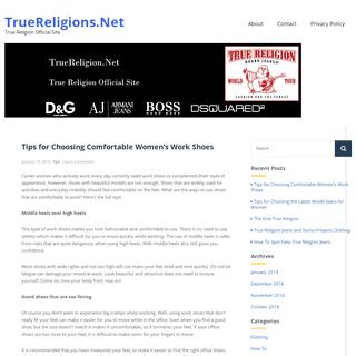 TrueReligions.net – True Religion Official Site