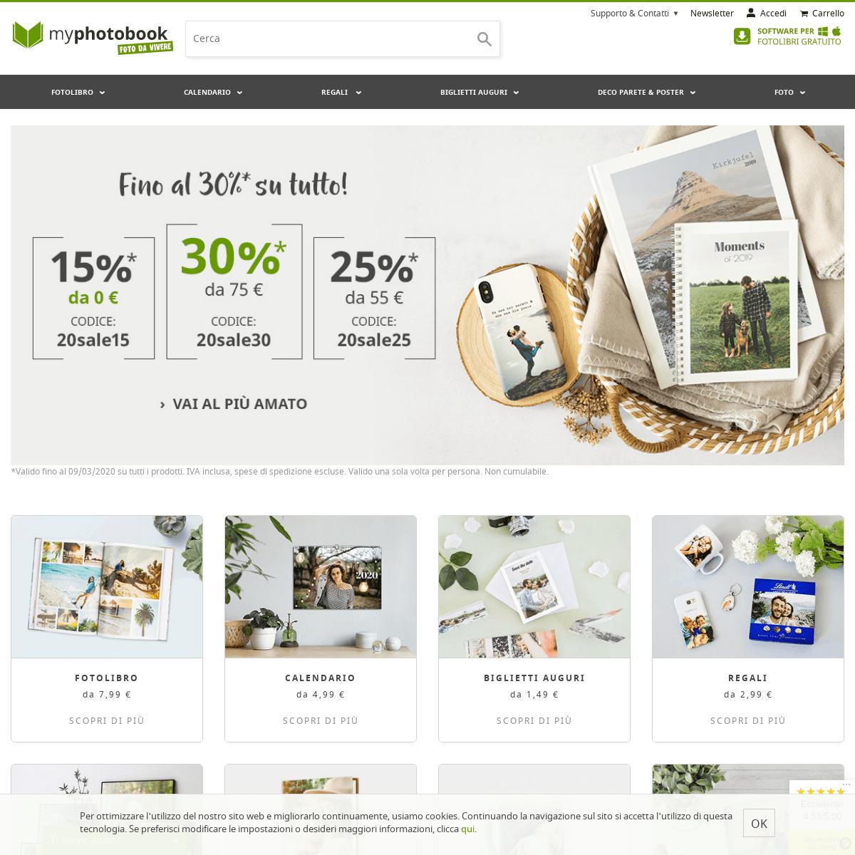 Oltre 300 prodotti fotografici da personalizzare