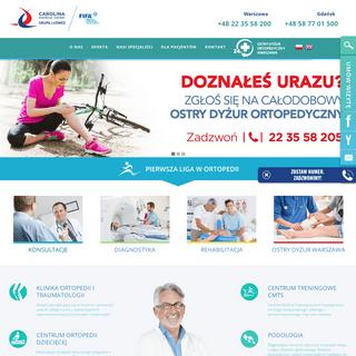 Szpital ortopedii i medycyny sportowej Warszawa - Carolina Medical Center