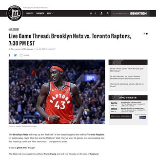 ArchiveBay.com - www.netsdaily.com/2020/2/12/21134774/wach-live-brooklyn-nets-vs-toronto-raptors-7-30-pm-tv-time-channel-stream-kyrie-irving - Watch Live- Brooklyn Nets vs. Toronto Raptors, 7-30 PM EST - NetsDaily