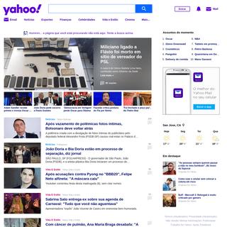 Yahoo Brasil- Email, notícias, finanças, esportes, entretenimento