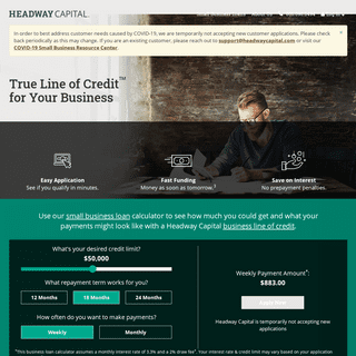 Headway Capital- True Line of Credit™ for Your Business