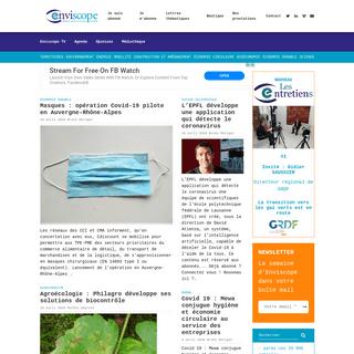 Enviscope - Premier média d'information sur la transition écologique en Auvergne-Rhône-Alpes, Région Sud et Suisse Occidenta
