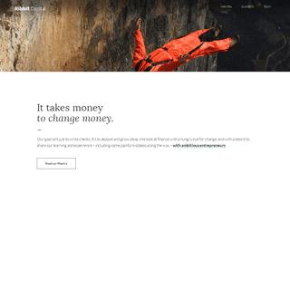 Ribbit Capital · It takes money to change money.