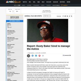 ArchiveBay.com - mlb.nbcsports.com/2020/01/28/report-dusty-baker-hired-to-manage-the-astros/ - Report- Dusty Baker hired to manage the Astros - HardballTalk - NBC Sports