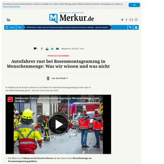 Volkmarsen- Mann rast am Rosenmontagsumzug bei Kassel mit Auto in Menge - was wir wissen - Welt