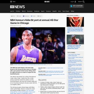 ArchiveBay.com - www.abc.net.au/news/2020-02-17/nba-all-stars-game-pays-respect-to-kobe-bryant/11972270 - NBA honours Kobe Bryant at annual All-Star Game in Chicago - ABC News (Australian Broadcasting Corporation)