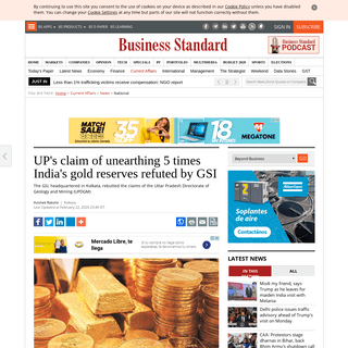 UP's claim of unearthing 5 times India's gold reserves refuted by GSI - Business Standard News