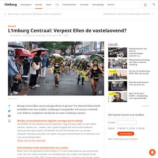 L1mburg Centraal- Verpest Ellen de vastelaovend- - 1Limburg - Nieuws en sport uit Limburg
