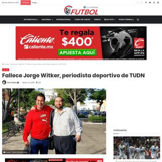 ArchiveBay.com - futbol.radioformula.com.mx/nacional/liga-mx/fallece-jorge-witker-periodista-de-tudn-2020/ - Fallece Jorge Witker, periodista deportivo de TUDN - Futbol RF