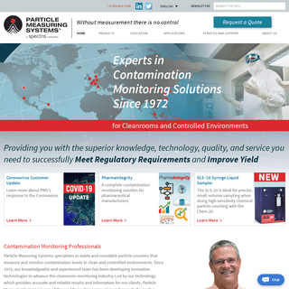 Contamination Monitoring Professionals - Particle Measuring Systems