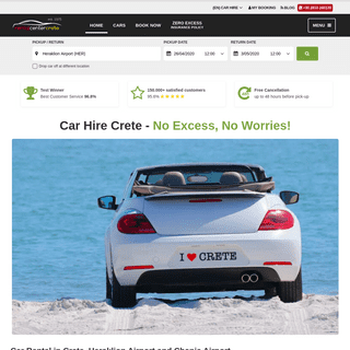 Car Hire Crete Heraklion & Chania Airport - Special Offers for 2020