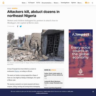 Attackers kill, abduct dozens in northeast Nigeria - Nigeria News - Al Jazeera