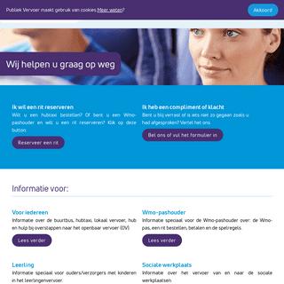 ArchiveBay.com - publiekvervoer.nl - Publiek Vervoer - Wij helpen u graag op weg
