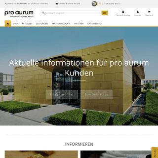 Gold, Silber, kaufen und verkaufen - pro aurum