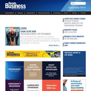 Nevada Business Magazine - The Decision Maker's Magazine