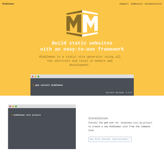 Middleman- Hand-crafted frontend development