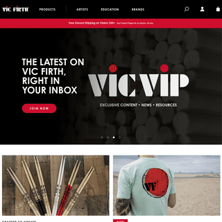 Vic Firth Home page
