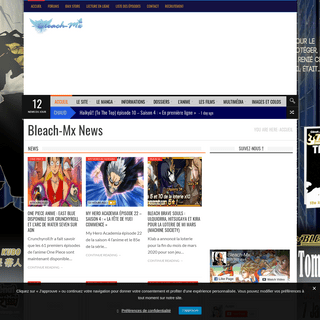 Bleach-Mx News - Bleach Mx • L'actualité des animes, des mangas, des jeux vidéo et du cinéma