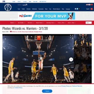 Photos- Wizards vs. Warriors - 3-1-20 - Washington Wizards