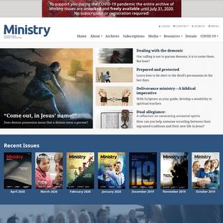 Ministry Magazine - Home
