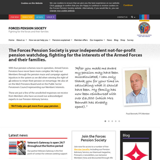 Forces Pension Society - Fighting for the Forces and their Families