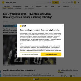 Liga Mistrzów- Olympique Lyon - Juventus. Transmisja w tv online live stream - Piłka nożna