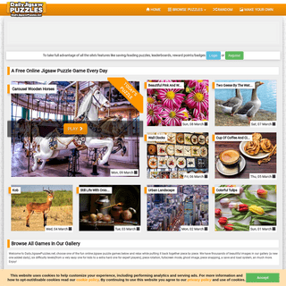 Daily Jigsaw Puzzles - Online Jigsaw Puzzles